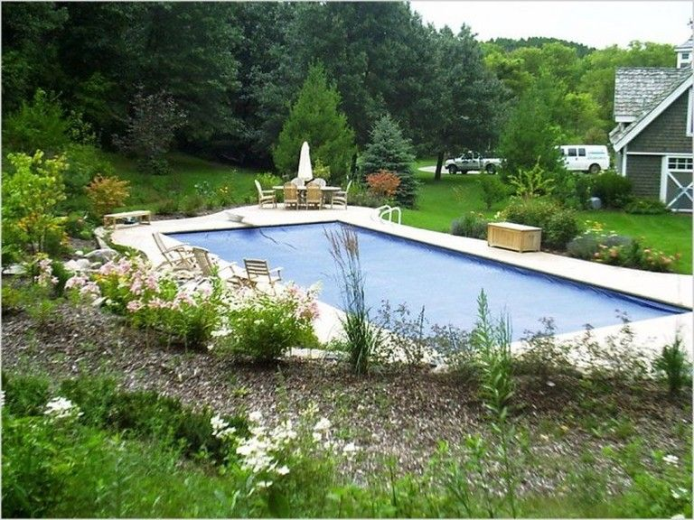 35 Exciting Rectangle Pool Landscaping Ideas Page 17 Of 39
