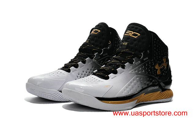 68cafa2c658 ... discount under armour ua curry one white black gold mens basketball  shoes ac4dc 31286