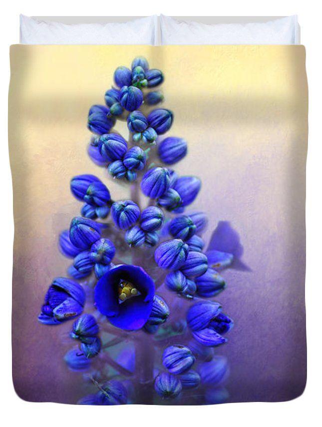 """Spring Sunshine on Blue Queen (88"""" x 88"""") Duvet Cover"""