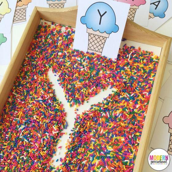 Ice Cream & Sprinkles Alphabet Writing Practice