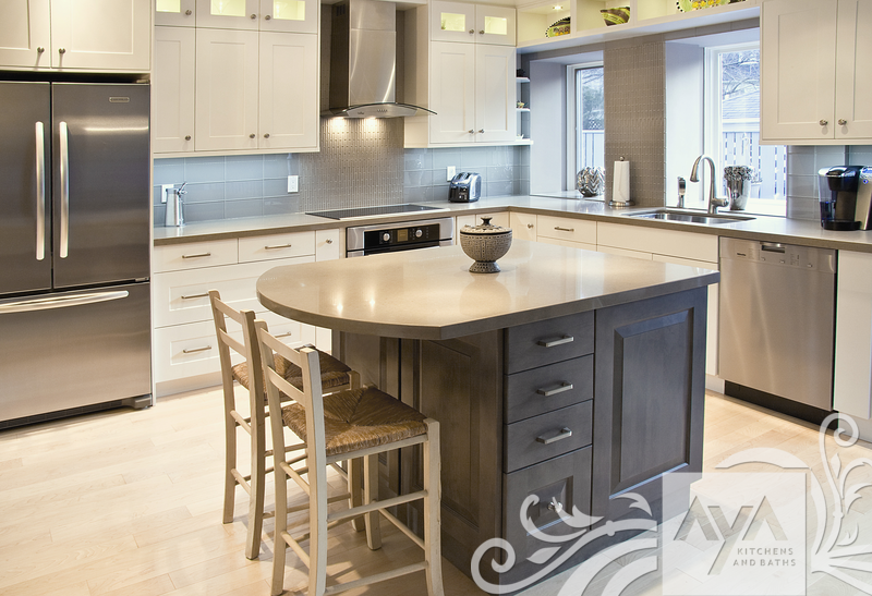Newport Kitchen Cabinets newport oyster and madison slate grey in contemporary mission