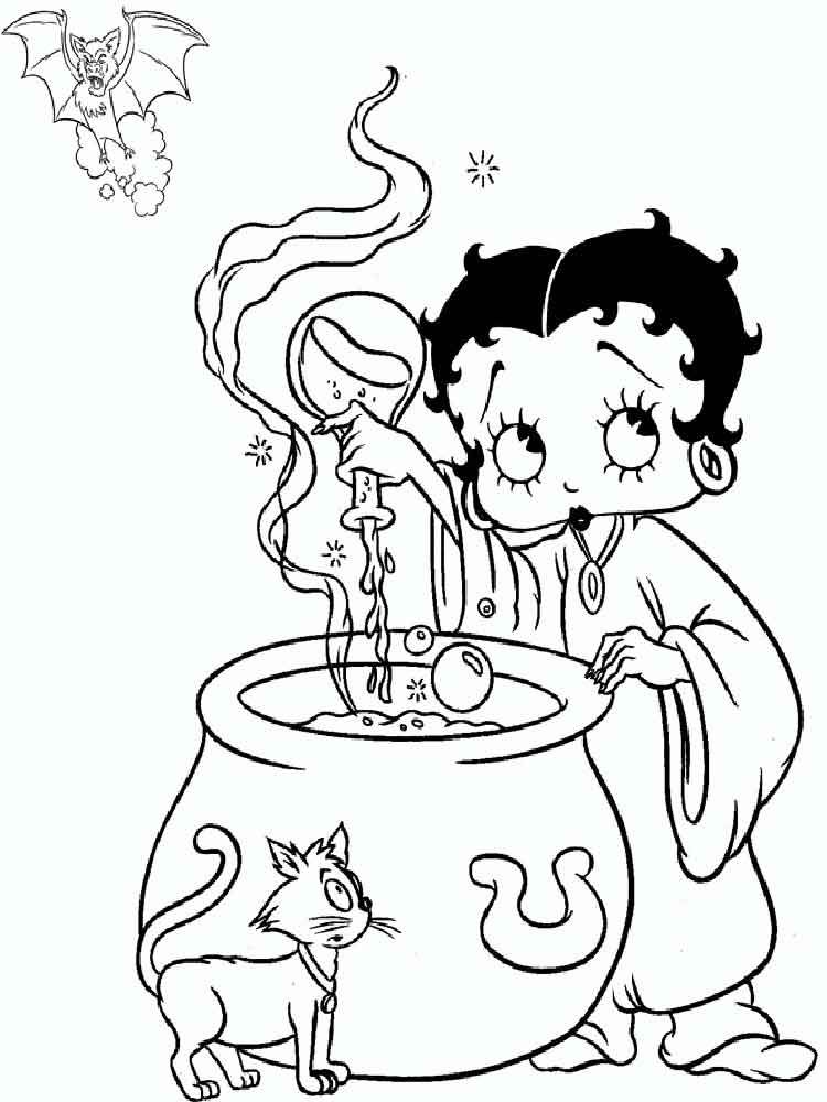 Betty Boop Halloween Wallpaper Wallpapersafari Betty Boop Halloween Witch Coloring Pages Cartoon Coloring Pages