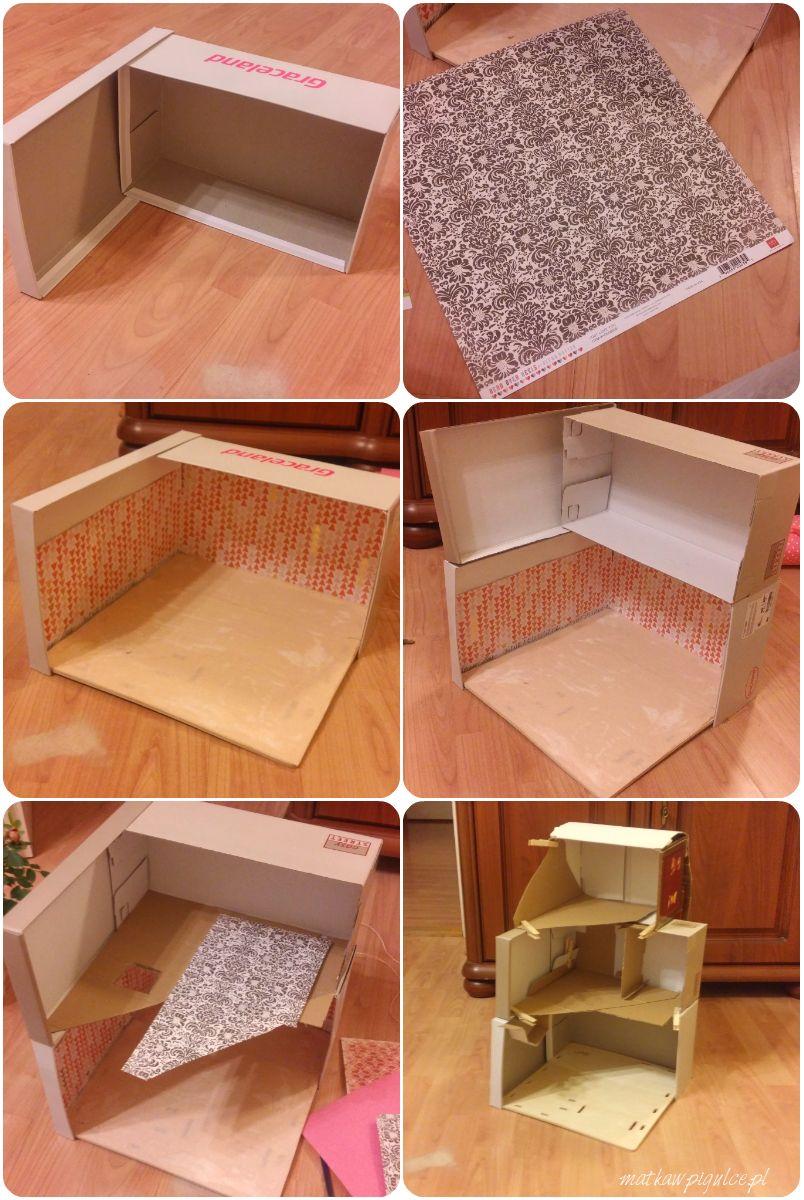 Matka W Pigulce Diy Domek Dla Lalek Z Kartonu Barbie House Furniture Diy Cardboard Furniture Cardboard House