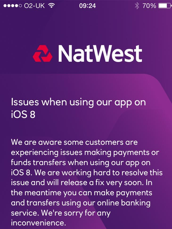 Natwest Confirm App Not Working In Ios 8 With Images App Ios