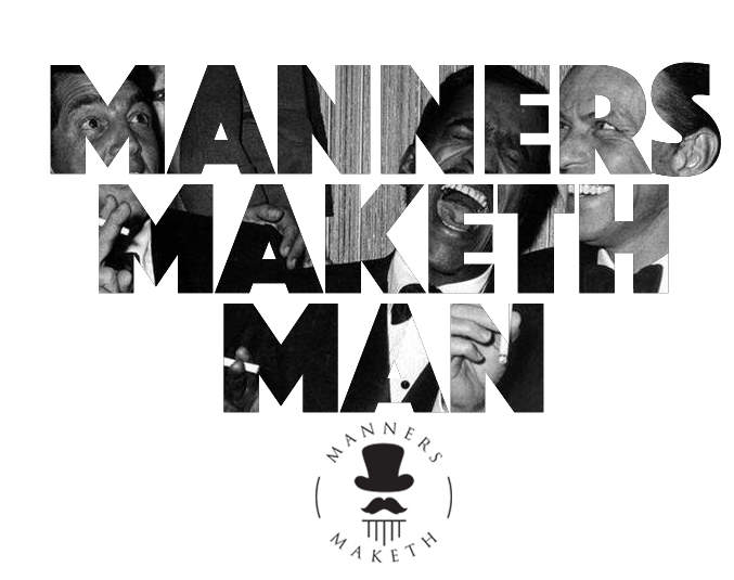 "Laptop sticker design. ""Manners Maketh Man."" #laptopsticker #quote #ratpack Buy here: http://www.mannersmaketh.com/shop/"
