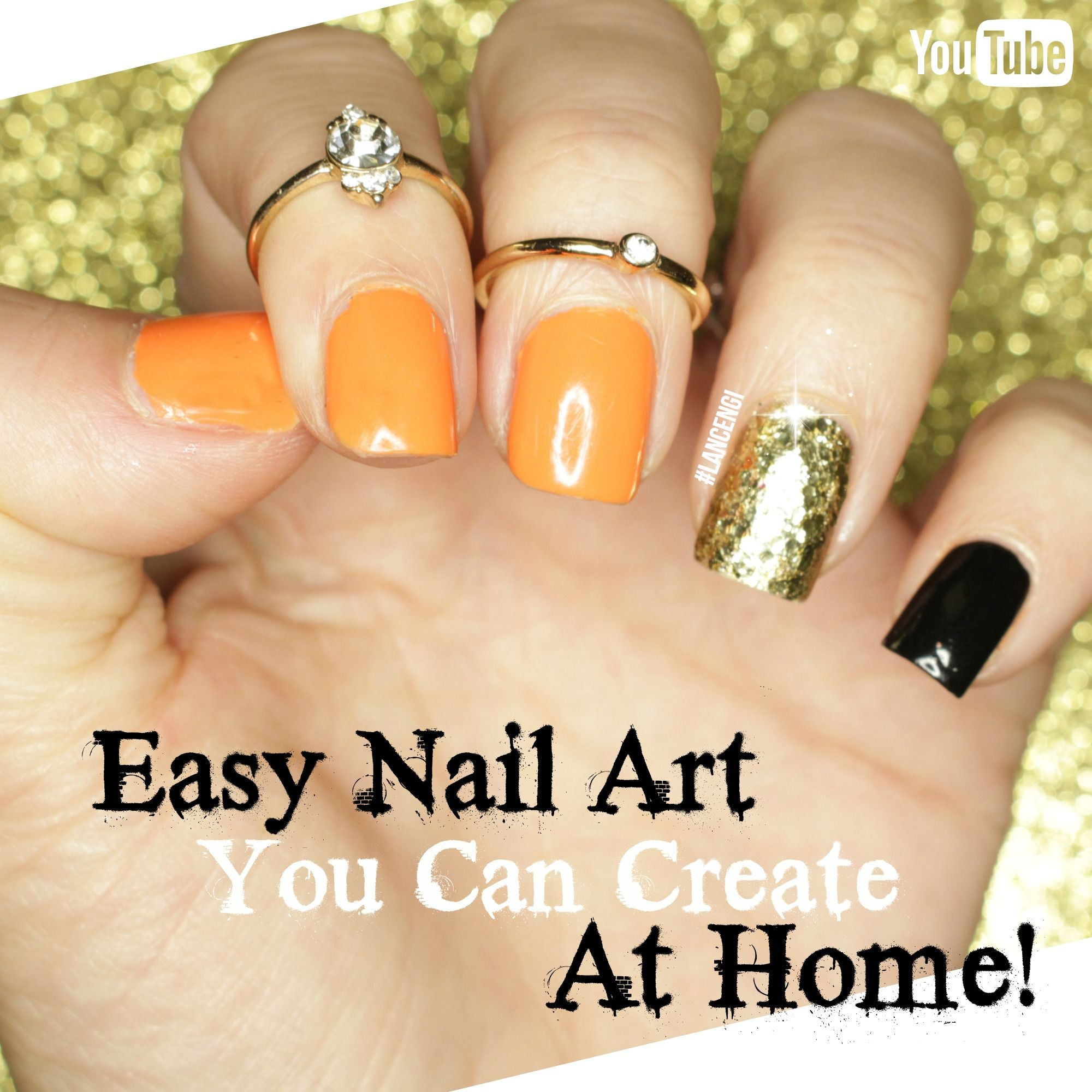 DIY Easy Halloween nail Art For beginners - Nail Art you can Actually DO at HOME!