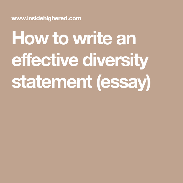 Diversity statement how to write