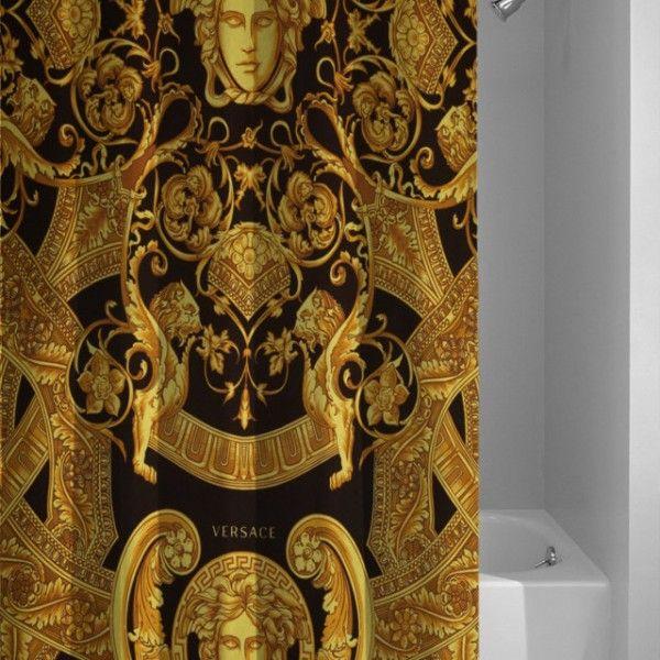Versace Custom Pattern Gold Design Shower Curtain Gold Design