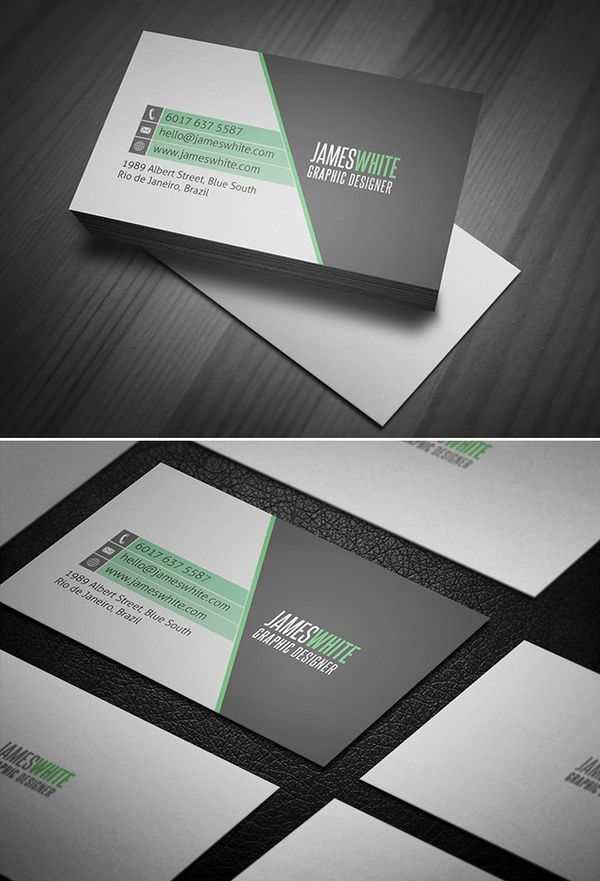 Clean and modern business card design | Prints | Pinterest ...