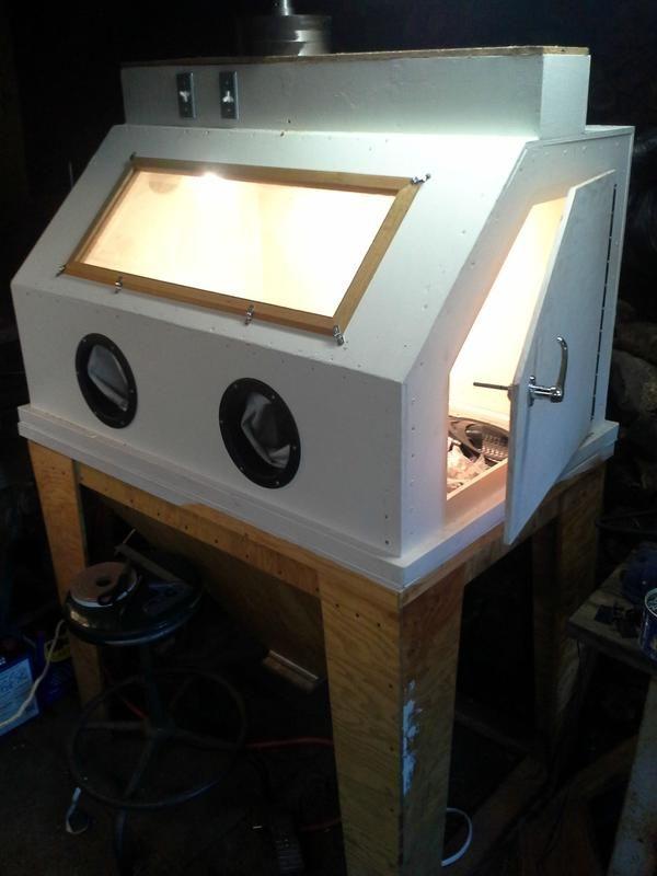 My 3 X5 Blast Cabinet Made Of Wood The Garage Journal Board Cabine Ideias Diy