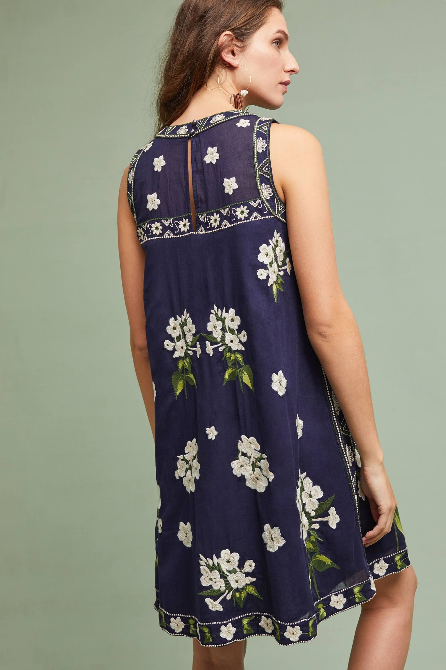... SAN MARCO EMBROIDERED SWING DRESS ...