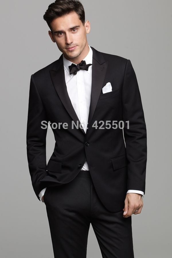 Click to Buy << Fashion Men Dress Suits Black Western Style Male ...