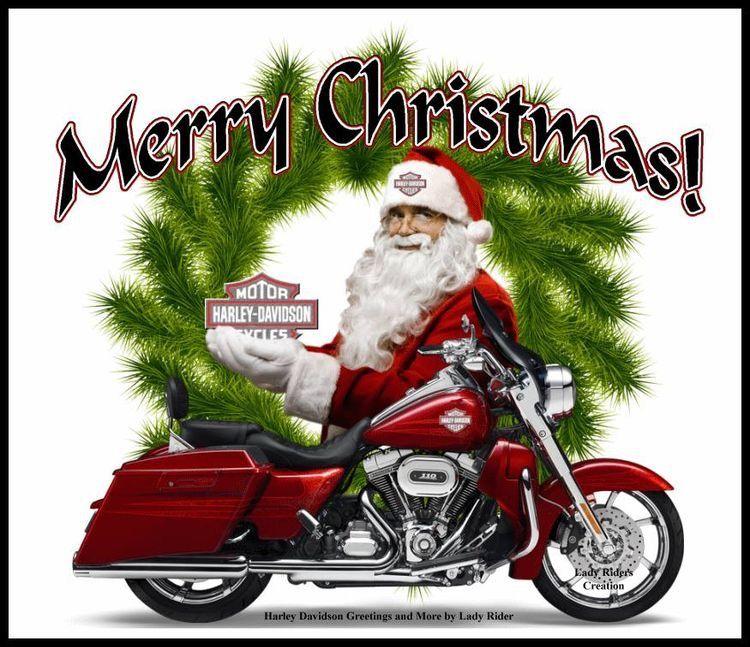 Frohe Weihnachten Motorrad.Merry Christmas Weihnachtsgrusse Harley Bikes Harley