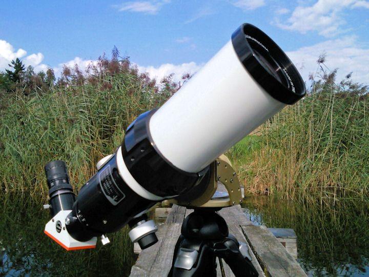 Mit diesem h alpha teleskop auf einer ayotraveler lassen sich