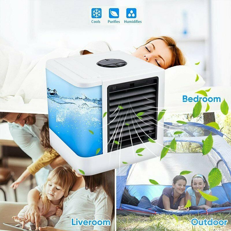 Mini Air Conditioning Unit Fan Home Cooler Digital Cooling