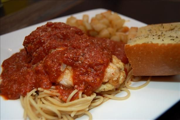 Olive Garden Stuffed Chicken Parmigiana Recipe Food Recipes