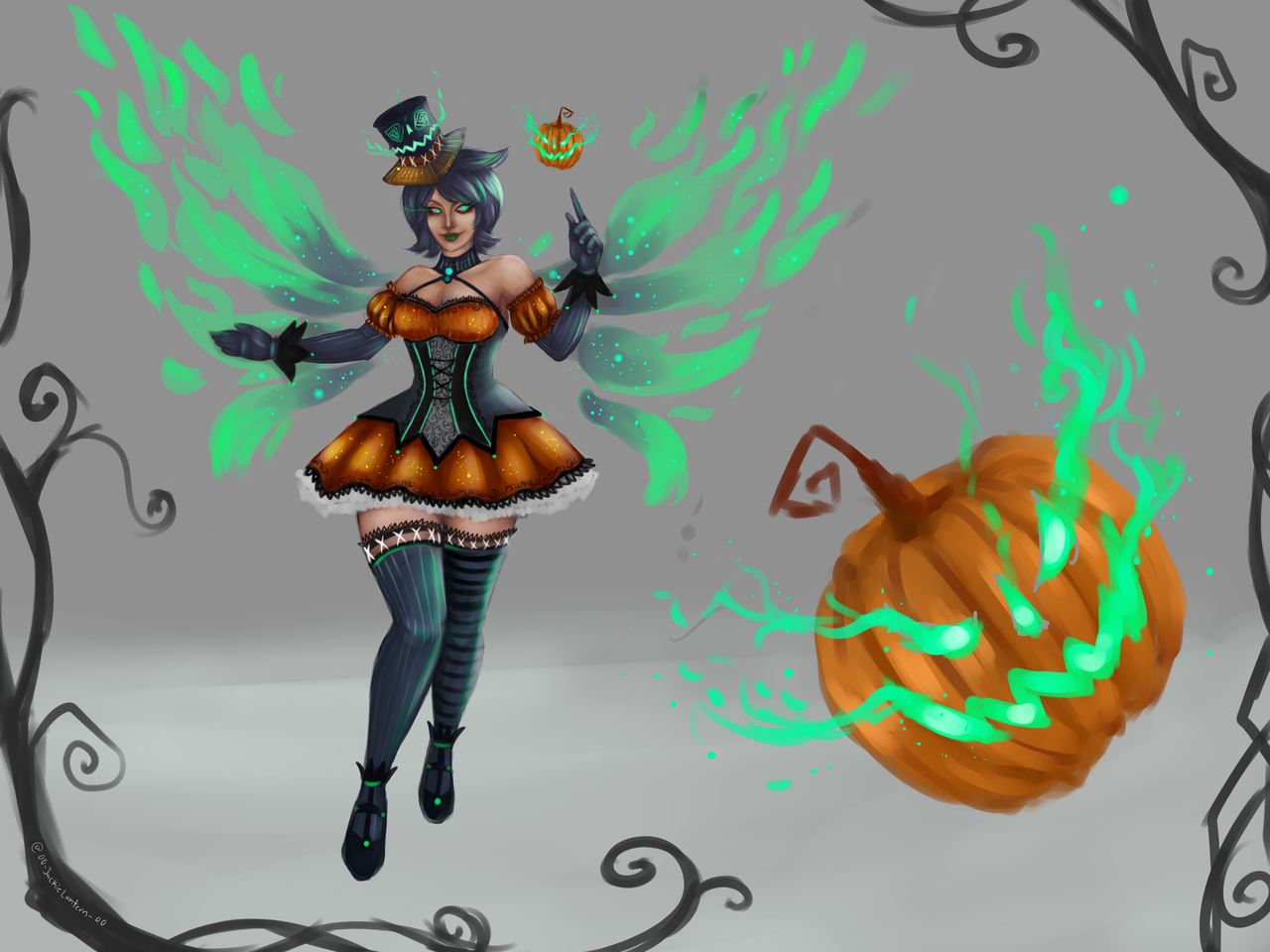 """Smite Halloween Skins 2020 For the SMITE Halloween/Winter Community Skin Contest """"Laughing"""