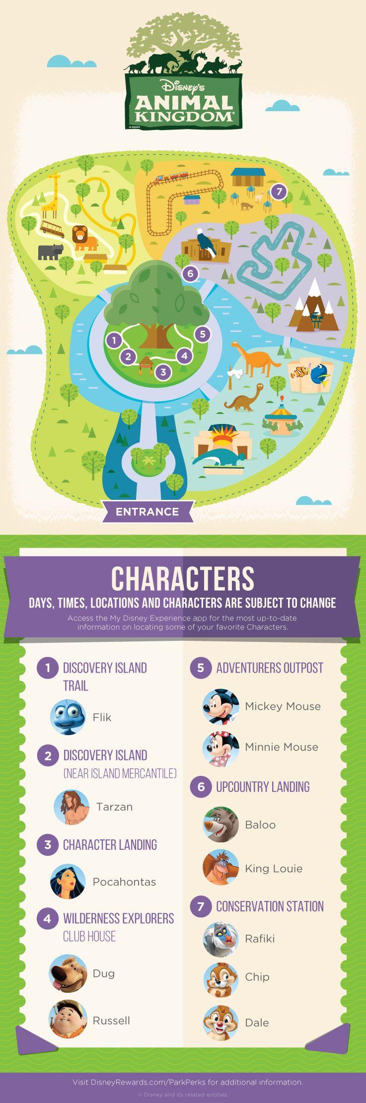 Animal Kingdom Florida Map.Disney S Animal Kingdom Character Experience Guide Disneyworld