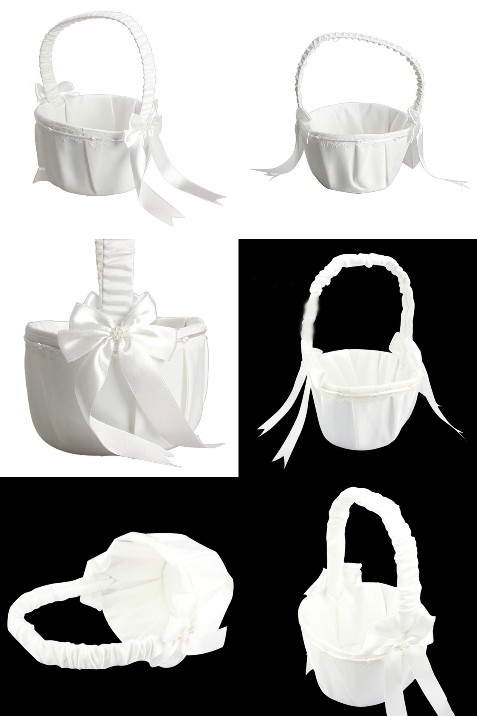 Visit to buy wihteivory flower girl basket for wedding decoration visit to buy wihteivory flower girl basket for wedding decoration party ceremony izmirmasajfo