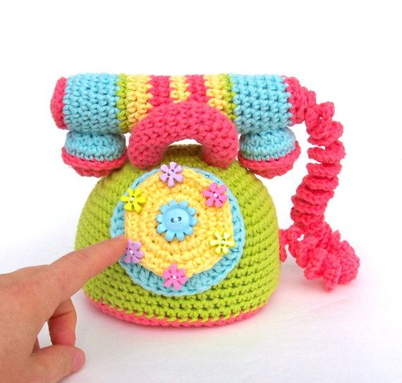 Pattern Crochet Telephone TootyLou Baby Shower Gift por TootyLou ...