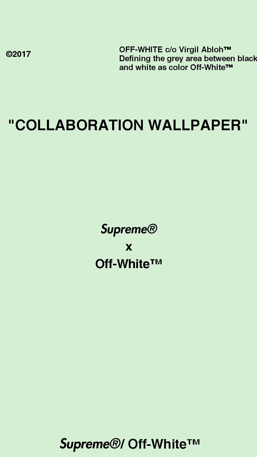 Supreme X Off White Collaboration Wallpaper Virgil Abloh Supreme White Wallpaper For Iphone White Wallpaper Iphone Wallpaper