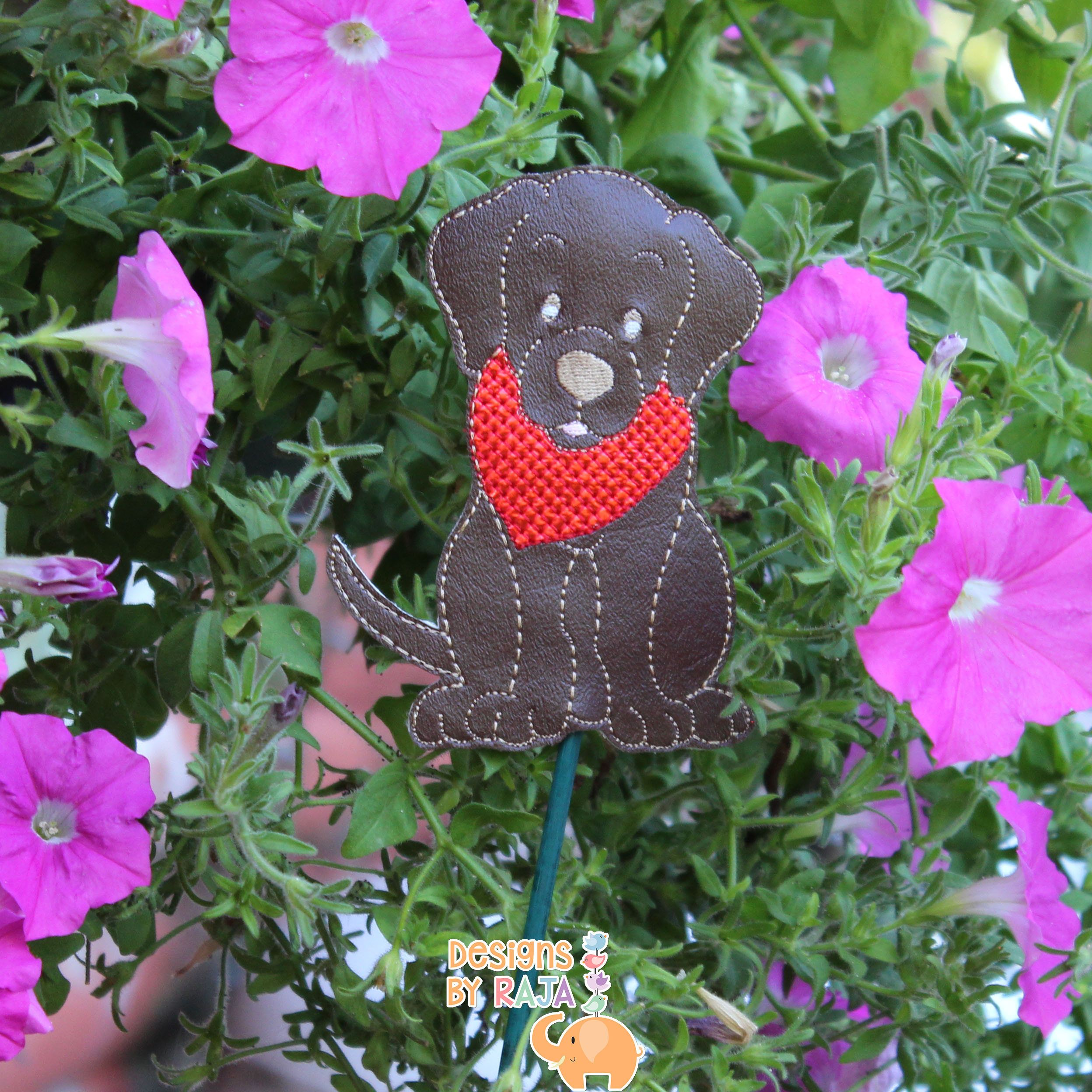Chocolate Lab garden stake, garden decor, plant gift, new home gift ...