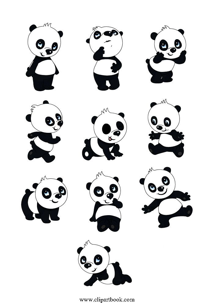 0b7fe0c59858 LE -cute Baby Pandafree vector clipart designs for digitizers ...