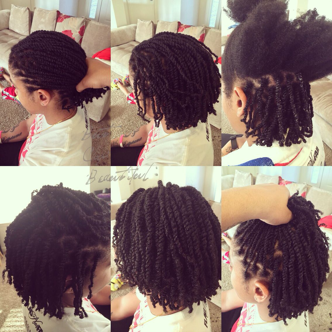 Two strand twists on natural hair | Natural hair ...