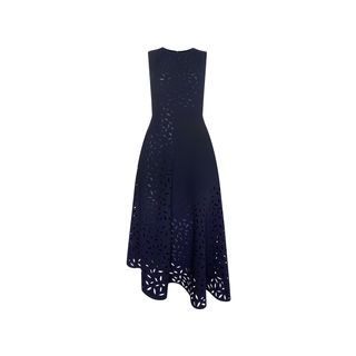 Floral Cut Out Panelled Dress, in Navy on Whistles