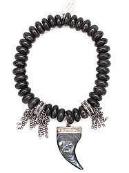 Antique Shell Claw & Horn Diamond Bracelet