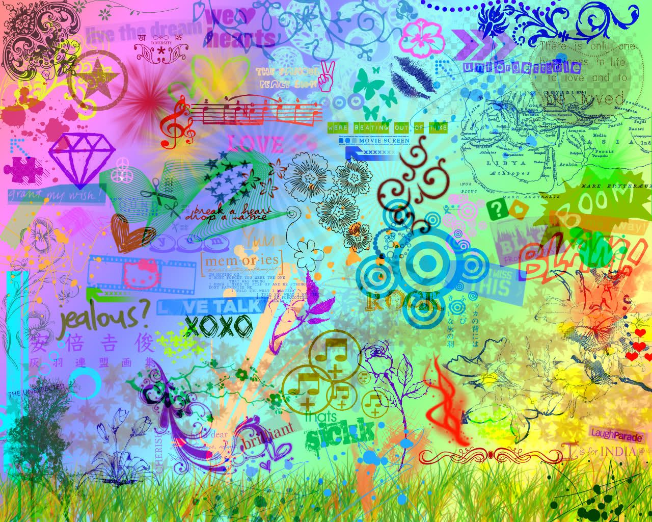 Colorful Peace Wallpapers Widescreen Free Download