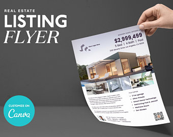 Modern Listing Flyer, Canva