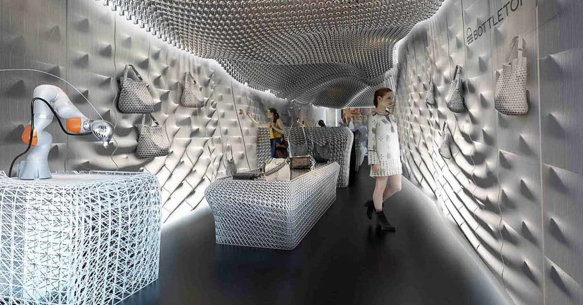 High Fashion Goes High Tech In This 3d Printed Store Store