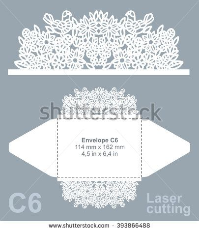 Vector die cut envelope template for laser cutting invitation vector die cut envelope template for laser cutting invitation envelope c6 stopboris Image collections
