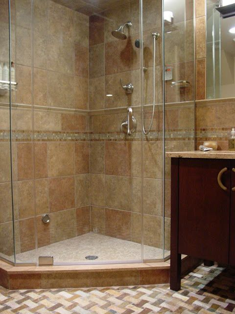 Stand Up Shower Ideas stand-up shower design. #bathroom #interiordesign | bathroom