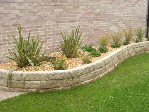 Low Maintenance Landscape Design Raised Wall Beds For Plants Juice Network
