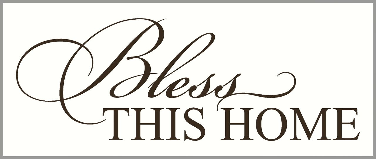 Download Bless This Home Entryway Wall Decal Quote   Wall quotes ...
