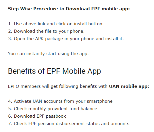 EPF Mobile App, MEPF Mobile App Download for Free Get