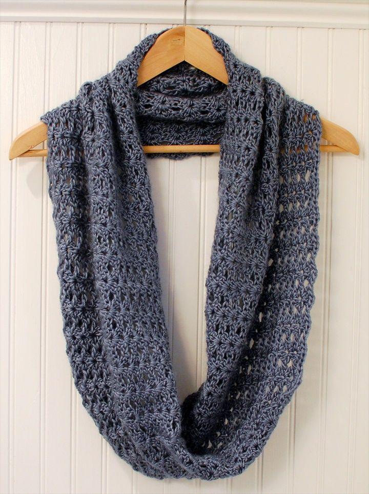 32 Super Easy Crochet Infinity Scarf Ideas Crochet Scarves Stoles
