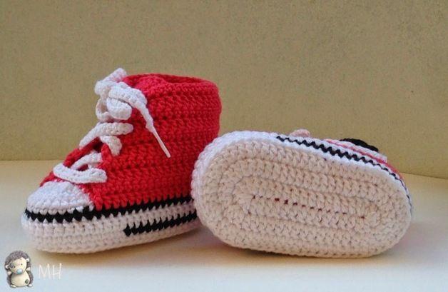 Zapatos de punto ganchillo - Converse a Crochet - hecho a mano por ... 45104aceccfc7