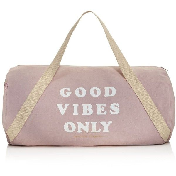 Spiritual Gangster Good Vibes Only Gym Bag found on Polyvore featuring bags, accessories, sport, blush, gym bag, sport gym bag, sport bag, cotton bags and spiritual gangster