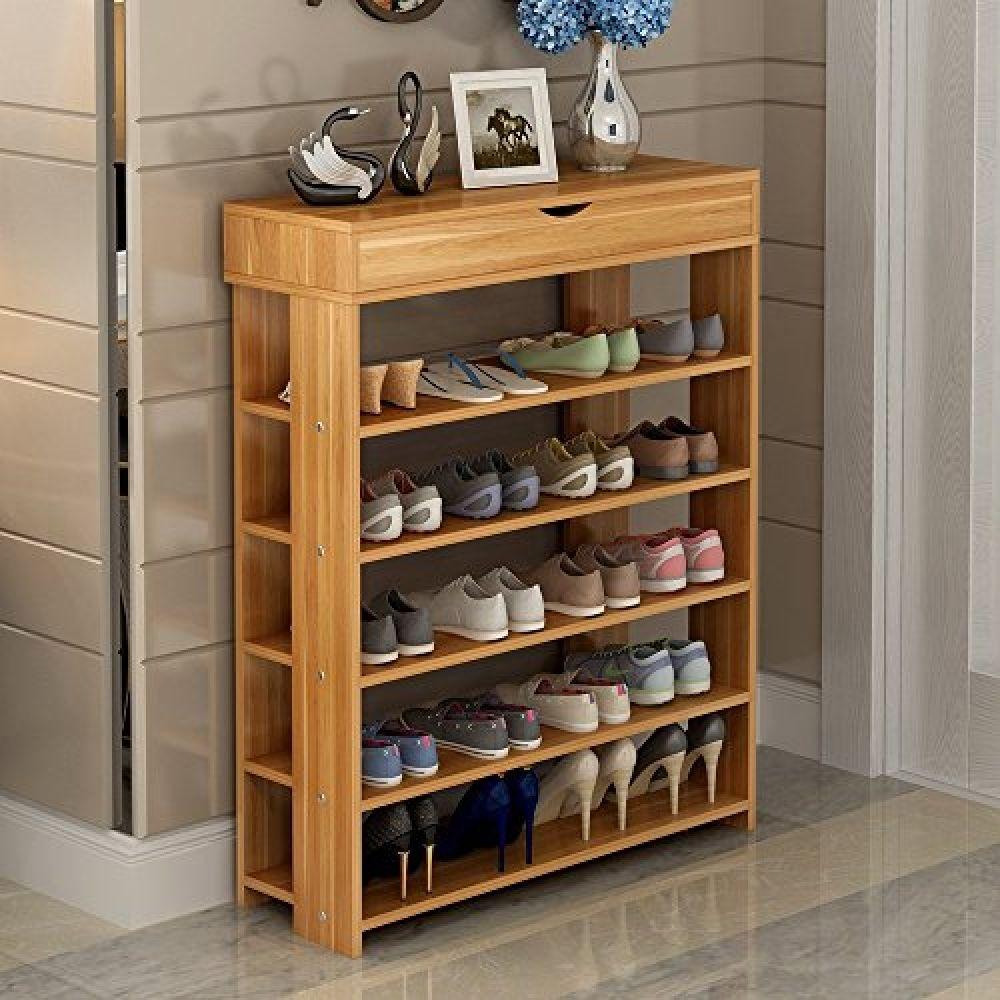 Soges 5 Tier Shoe Rack 29 5 Wooden Shoe Storage Shelf Shoe Organizer Teak L24 Tk Wood 4 Good Wood Shoe Storage Shoe Rack Living Room Shoe Storage Shelf