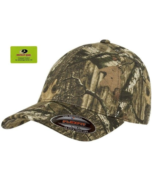 Fitted Low Profile Mossy Oak Camo Cotton Hat with Curved Visor ... a910d356c70