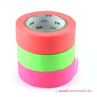 Washi Masking Tape Shocking Neon Pink Green Red Orange Masking Tape Tape Mt Tape