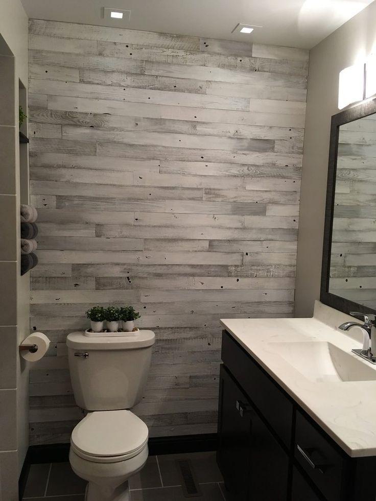 Whitewash Barn Wood 3 Wide Planks In 2020 Wood Wall Bathroom Wood Bathroom Wood Plank Walls
