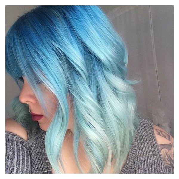 29 Blue Hair Color Ideas for Daring Women ❤ liked on Polyvore ...