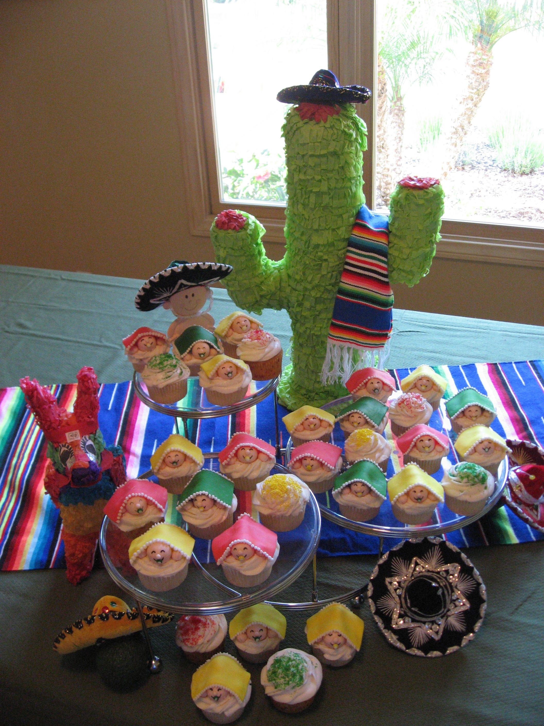 Fiesta Themed Baby Shower Cupcakes Pinterest