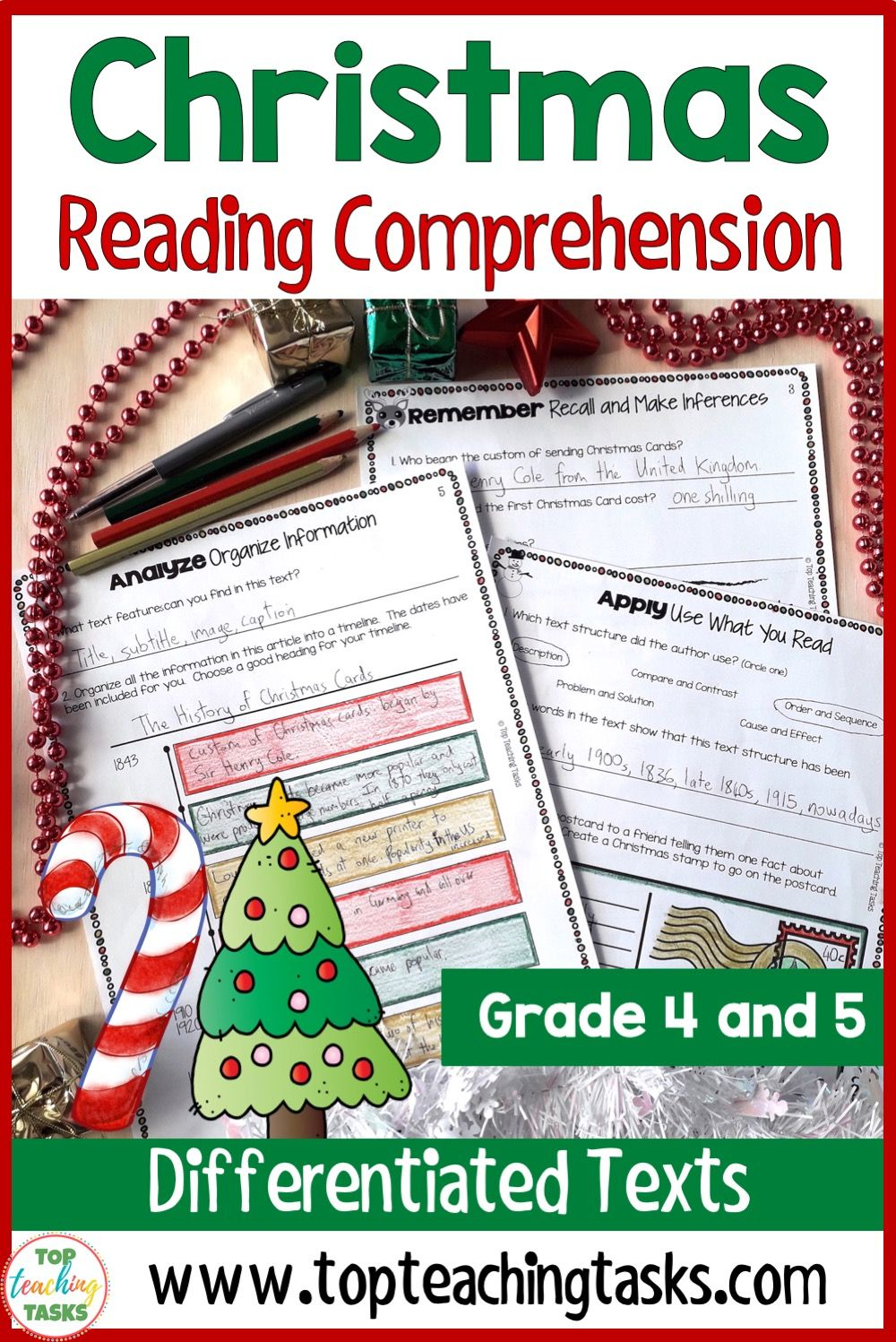 Christmas Reading Comprehension Passages With Text Dependent Questions Bundle Top Teaching Tasks Christmas Reading Christmas Reading Comprehension Christmas Reading Activities [ 1497 x 1000 Pixel ]