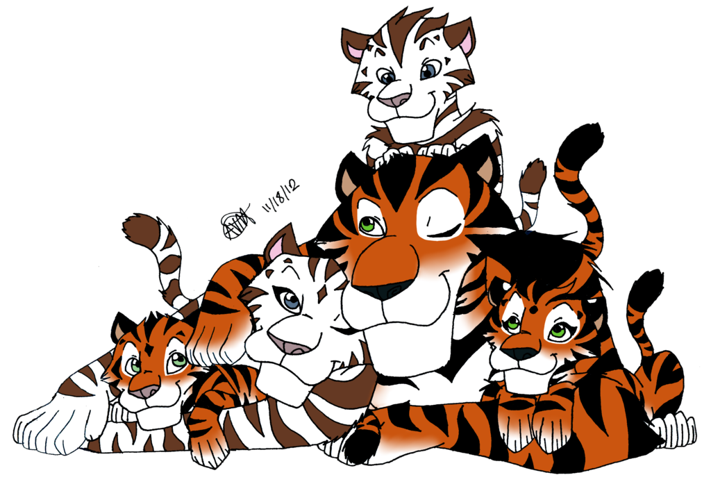 The Zaragoza Tiger Family by Furattii.deviantart.com on @deviantART