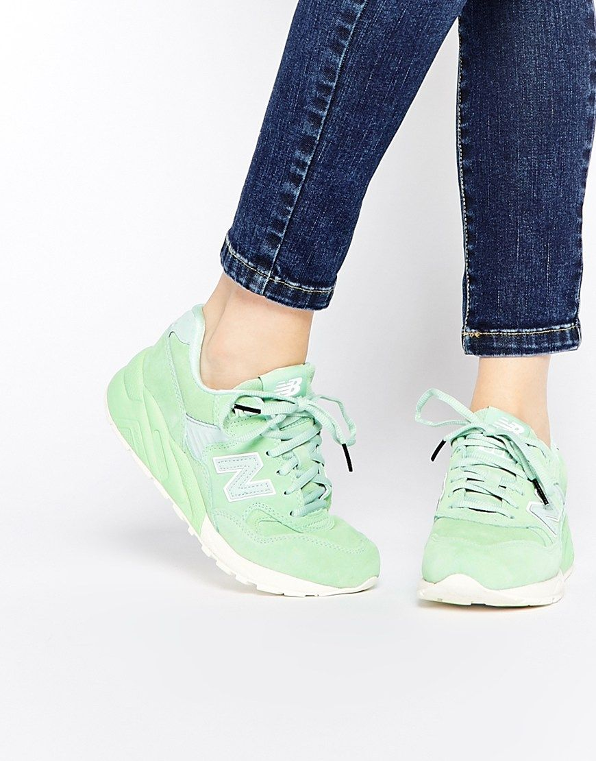 Image 1 of New Balance 580 Mint Green Trainers